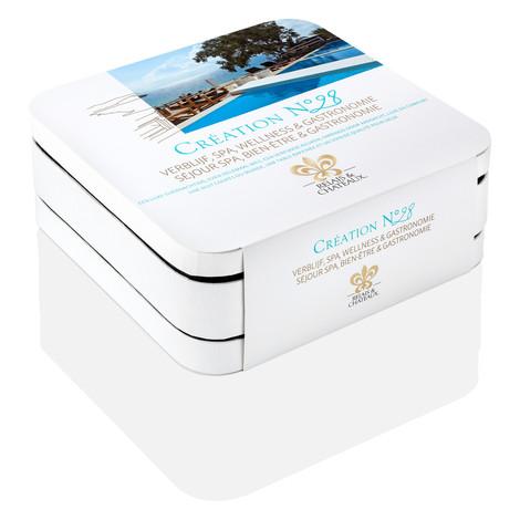 Coffret cadeau CRÉATION N°28 : Verblijf, Spa, Wellness & Gastronomie - Séjour Spa, Bien-être & Gastronomie